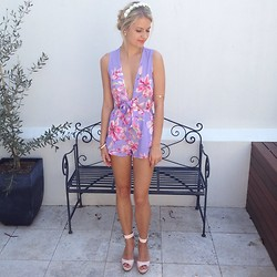 Megan Purdy - Popcherry Fashion Playsuit, Betts Wedges - Playsuit love