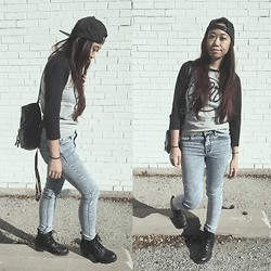 Tara Bec - Obey Snapback, Y&G Top, Pacsun Jeans, Tilleys Combat Boots - She was sweet