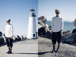 Tommy Lei - Chapter Knitted Sweater, Chapter Zip Up Jumpsuit, Saint Laurent Zip Up Boots, Lura Sunglasses - Jumpsuit Journey