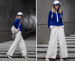 Karen Lee - Lie Sang Bong Blouse, Lie Leather Culottes, Proenza Schouler Ps1 Backpack, Jeffrey Campbell Dulce Sh, Illesteva Round Frieda Reflective Sunglasses, None White Leather Cap - Waves of change