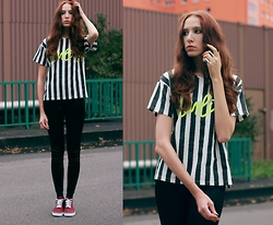 Ola Ci - Poppy Lovers Striped Shirt, H&M Sneakers - Kill Me