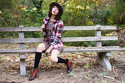 Amy Roiland - Kenneth Cole Boots, Lucca Couture Flannel - Outside Outside.. Come Out