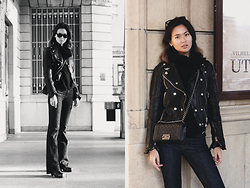 Miu N - Burberry Jacket, Chanel Bag, Zara Jeans, Rodebjer Knit, Ray Ban Sunglasses, Acne Studios Boots - Perfect Bootcut