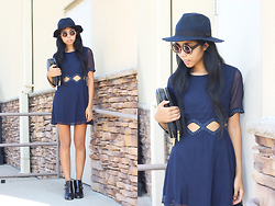 Sharena C. - Navy Hat, Navy Dress, Navy Booties - In the Navy