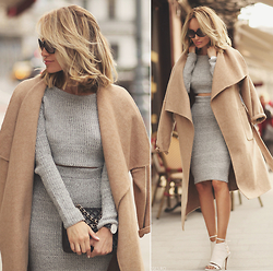 Silvia P. - Zara Coat, Missguided Co Ord, Chanel Purse, Smilingshoes Sandals, Daniel Wellington Watch - Camel coat