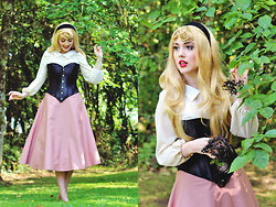 Megan McMinn - Handmade Sleeping Beauty Costume, Annabelle's Wigs Wig - I walked with you once upon a dream...