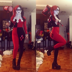 Madeline Dawson - Black Milk Clothing Harley Quinn Catsuit, Unif Trasher Boots - Don't You Wanna Rev Up Your Harley??
