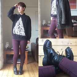 Eleanor Hamed - Topshop Leigh Jeans, And Finally... Rapper's Delight Sweater, Barbour Christopher Raeburn Jacket, Tiffany & Co. Tf2907, Dr. Martens Serena 8 Eye Boot, Fred Perry Pique Polo - Lazy Sunday