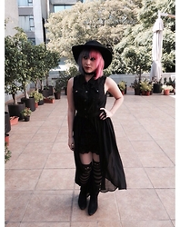 Anna Delao - Forever 21 Dress, H&M Hat - Salem's girl