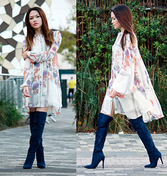 SuSu Do - Asos Dress, Missguided Knee High Boots - All the way above the knee