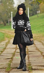 Laura Veronica - Humanic Boots, River Island Bag, H&M Skirt, Sheinside Sweaters - Cozy Nordic Sweaters