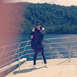 Renata Vilchis - Rebecca Minkoff Purse, Pull & Bear Scarf, Zara Jacket - Gordon River Cruise