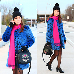 Beauty Mark Lady - Michael Kors Coat, Charter Club Luxury Scarf, Betsey Johnson Bag, Nine West Heels, Ralph Lauren Gloves, Betsey Johnson Hat - Colorful game