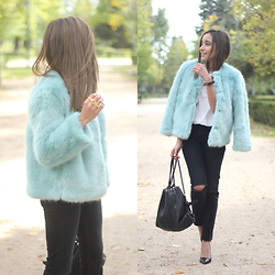 Besugarandspice FV - Zara Coat, Uterqüe Bag - Faux Fur Coat