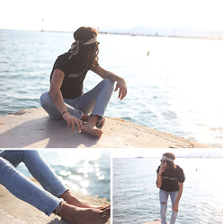 Dustin H. - The Kooples Scarf, Balmain T Shirt, Cheap Monday Jeans - French riviera