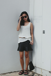 Yie W - H&M Sunglasses, H&M Sleeveless Knit, Asos Mermaid Skirt, Asos Slip On Sliders - Urban Woods