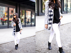 Kat Tanita - Uniqlo Scarf, Frame Jeans, Michael Kors Coat - November Days