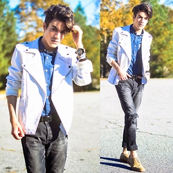 Armando Maldonado - Forever 21 Faux Leather Jacket, Cotton On Button Down Shirt - Hold On, We're Going Home