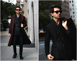 Filippo Fiora - Salvatore Ferragamo Suit, Saint Laurent Sunglasses, Church Shoes - DRESSING GOWN