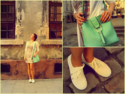 Khrystyna Yakoviv - Oodji Gown, My Handmade Mocassins, Castella Bag - Romantic travel through the streets of the city.