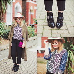 Lily Melrose - Asos Top, Topshop Trousers, Asos Boots, Topshop Camel Fedora - Edge of Seventeen