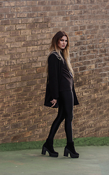Claudia Michon - Primark Jumper, M&S Coat, American Apparel Disco Pants, Shellys London Shoes - Too black to care