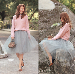 Mayo Wo - Frontrowshop Mohair Sweater, Alexandra Grecco Tulle Skirt, Charlotte Olympia Sleeping Beauty Heels - Be the reason someone smiles today