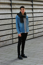 Sam Mü - Dr. Martens Shoes, Nudie Jeans Denim, Cheap Monday Tee, Weekday Scarf - When we were on fire.