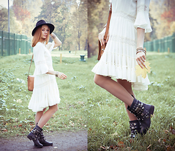 Lidia ♫♪♫ - Choies Hat, Style Moi Dress, Style Moi Bracelets, Style Moi Fingertip, Asos Boots - Sugarplum