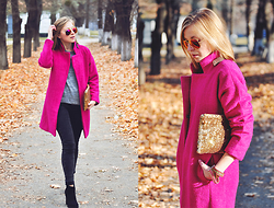 Natalie Savchenko - Persun Coat, Choises Clutch, Vero Moda Top, Bershka Jeans, Bershka Boots - Walking on air