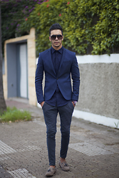 Marwan El - Zara Blazer, Aigner Watch - DEEP BLUE