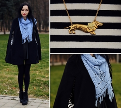 Kary Read♥ - Eclectic Eccentricity Necklace, Chic Wish Shoes, Frontrowshop Coat - Vintage♥