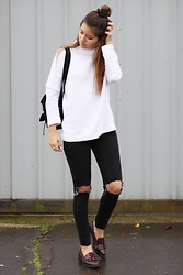 Eleftheria L - Zara Jumper, Topshop Jeans, Zara Shoes - Knitwear for cold air