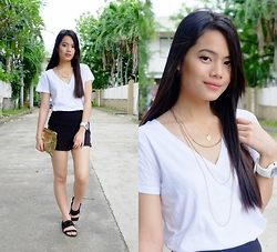 Zaira Chan - Gap Shirt, All About Hue Hw Shorts, Zara Sandals - Sparkle Up Basics