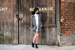 Laura Ngiam - Village Boutique Cardigan, Dorothy Perkins Clutch, Asos Dress, Asos Boots - Yes / No