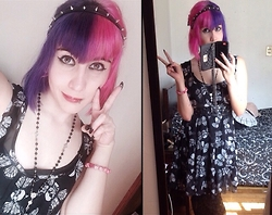 Anna Delao - Hot Topic Dress, Forever 21 Studs - Butterflies