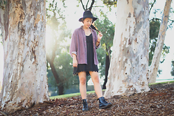 Rachel Park - Urban Outfitters Lace Dress, Urban Outfitters Black Hat, Dr. Martens Black Boots - BACK AT IT: