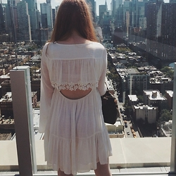 Kaye Claire Chapman - Free People Gentle Dreamer Dress, Louis Vuitton Speedy 25 - NYC AM/NICE VIEW