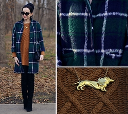 Kary Read♥ - Eclectic Eccentricity Necklace, Chic Wish Coat, Oasap Sweater - Холодрыга)