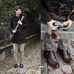 Bobby Raffin - Coach Crosby Wool Duffle Coat, Coach Alexander Monkstrap, Coach Mercer Banket Breif In Leather - Winter Warmth