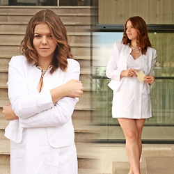 Mădălina Vanills - Naf Blazer And Shirt - All White