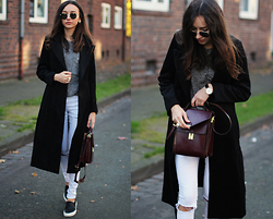 Bea G - Coat, Top, Jeans, Shoes, Bag, Watch - Classic Morning