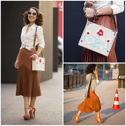 STYLEBOOM B - Meltem Ozbek İstanbul Leather Skirt, Vince Camuto Chunky Mary Janes, Forever New Emroidered Bag - Hippy Hippy Shake