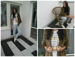 Joanna F. - H&M Faux Fur, Yeah Bunny T Shirt, Converse Shoes - Naughty by nature