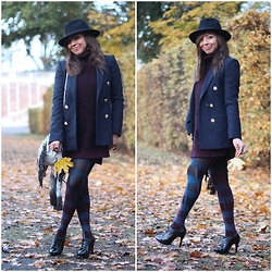 "Holy Rakoto - Penti Tights, Zara Blazer, Maje Bag - ""Novembre en fantaisie!"""