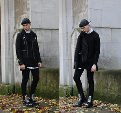 Joel Mcloughlin - Topman Biker Jacket, Asos Leather Cap, Dr. Martens Grasp - BIKER