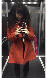 JessicaElaine-Clare ☮ - Mademoiselle Orange Coat - Going down...