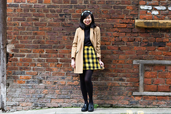 Laura Ngiam - Primark Headband, Topshop Coat, Asos Turtleneck Sleeveless Top, Missguided Skirt, Hidden Fashion Shoes - Clueless