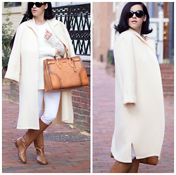 Veronica P - The Frye Company Bag, The Frye Company Boots, Valentino Coat - Winter White