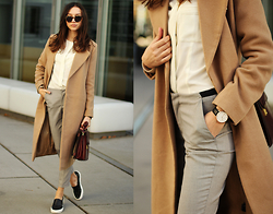 Bea G - Coat, Blouse, Pants, Shoes, Bag, Watch - The Old Classics